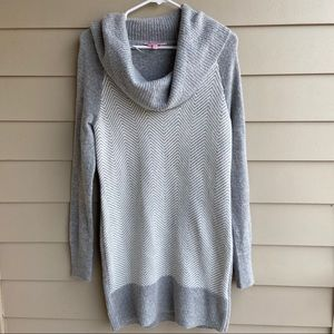 Candie's cowl neck gray long sleeve sweater dress